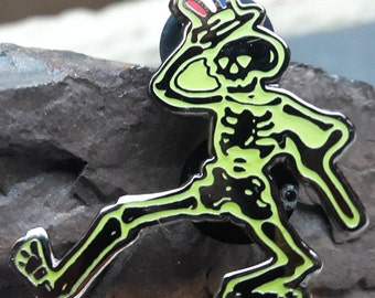 Skeleton Pin Glow in the Dark Pin Dancing Skeleton Pin Grateful Dead Pin Grateful Dead Hat Pin FREE SHIPPING!!!