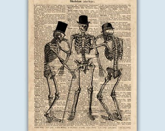 Skeleton Art Print, Anatomy Print, Skeleton Poster, Human Skeleton Print, Anatomical Poster, Anatomy Art