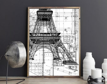 All wing airplane poster airplane art print northrop eiffel tower blueprint eiffel tower print eiffel tower poster eiffel tower art print malvernweather
