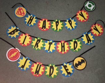 Superhero Birthday Banner-Boys Birthday Banner
