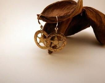 Stars earrings handmade in bronze