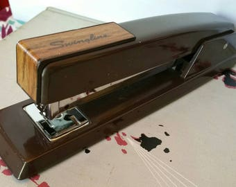 Vintage Industrial Swingline Stapler Model 747 Classic Industrial Brown - Made in the USA