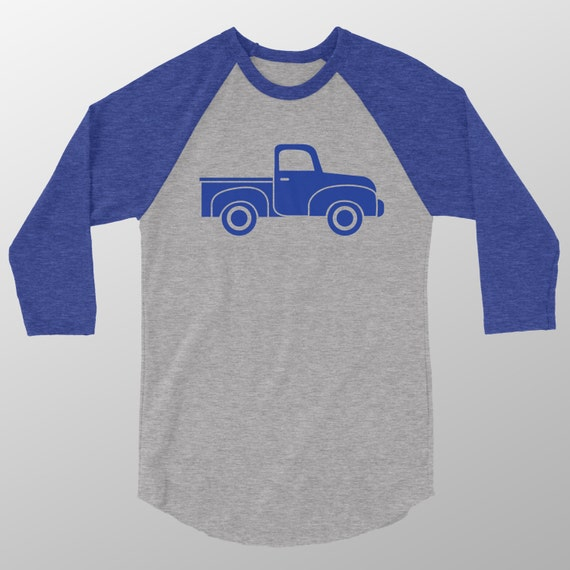 Little blue truck shirt adult raglan little blue truck shirt for Little blue truck fabric