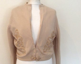 Jacques de Loux vintage 1960's cardigan with embroidery
