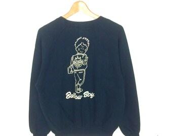 Vintage bollow boy crewneck sweatshirt M size