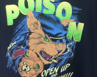 Vintage 90's Poison open up say ahh album great condition