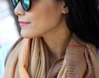 Thai Pashmina Scarf: Brown