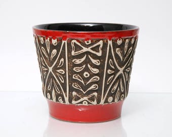 MID CENTURY Ceramic PLANTER Ü-Keramik 1960/70s Made in Germany Vintage Form Nr. 171/17