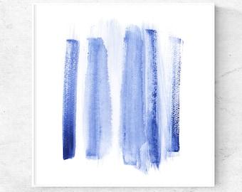 Digital wall art Blue watercolor print, Abstract watercolor painting, printable abstract gallery wall art, 5x5, 8x8, 12x12, square print