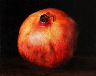 pomegranate, oil painting, original painting, still life