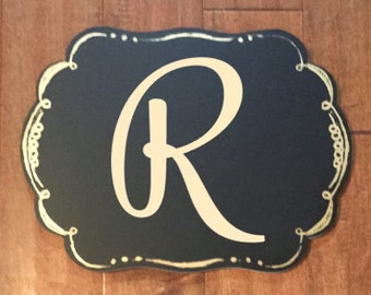 Single Letter Monogram / Vinyl Monogram Letter / Yeti Decal