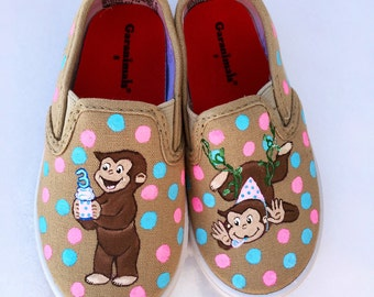 Curious George Birthday shoes