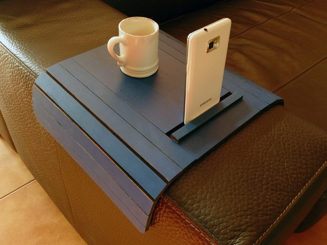 white sofa cover with wooden table | Laser cut wood sofa arm tabletv tray with standsofa by ...