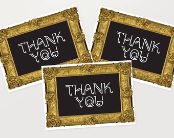Thank You Cards 6 Pack - Blackboard Teacher Gold Frame Set Cards TYPACK006_CP