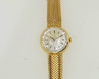Omega 18k gold watch c.1969 with original box