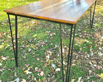 Reclaimed wood table, hairpin leg table, dining table, mid century modern, rustic dining table, modern reclaimed table, industrial table