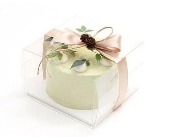 3 Clear Mini Cake Boxes With Traysmini Cakesmall Boxmini