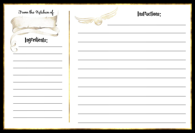 Custom Harry Potter Bridal Shower Recipe Card Muggle to Mrs