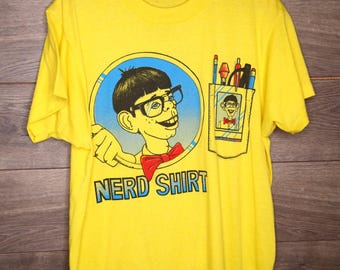 Vintage 1988 nerd shirt made in Italy [0145]