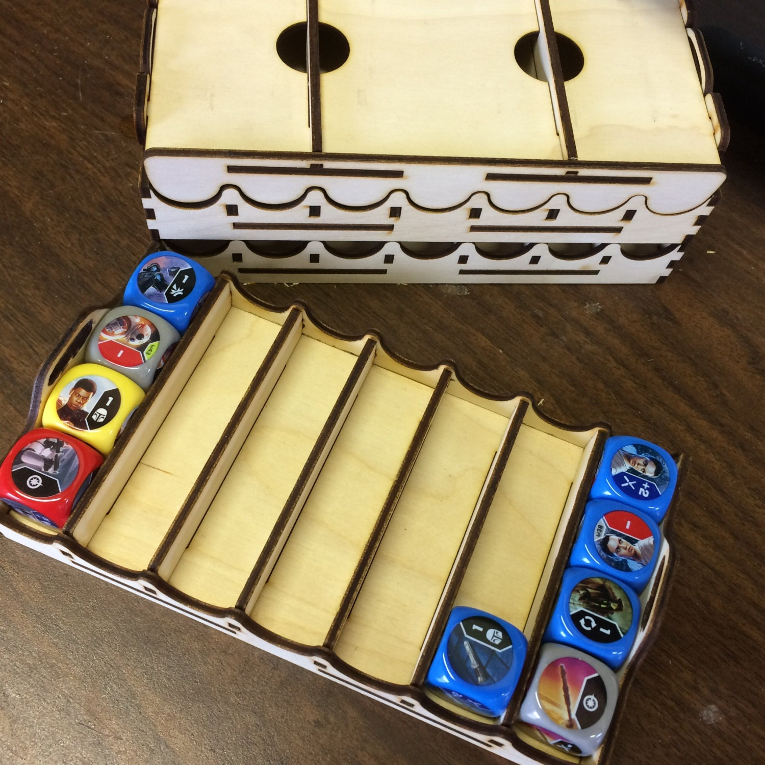 Organizer trays for Star Wars Destiny dice game Design