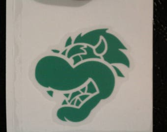 Bowser Head Mario Decal Any Size Any Colors