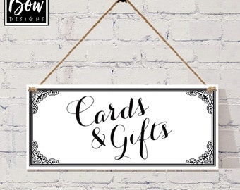 WEDDING Cards and Gifts hanging sign, wedding decor, gifts table G041