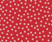 Sew Cherry 2 Daisy in Red from the Sew Cherry 2 Collection by Lori Holt for Riley Blake