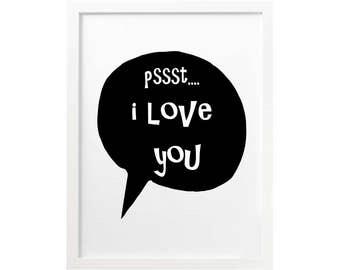 I Love you, I love you print, I love you wall art,I love you wall print, nursery printable,love art, love wall art, i love you printable