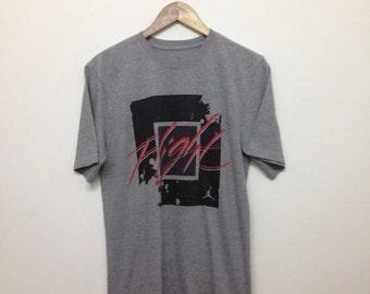 Nike Air Jordan Mens T-Shirt/Air Jordan Flight/Gray/Size M