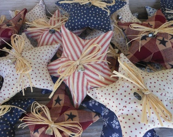 4th of July Fabric Star  Priced per star