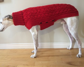 Free Knitting Pattern For Greyhound Jumper : Knitted dog sweater Etsy