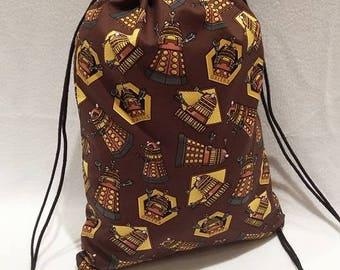 Doctor Who Daleks Drawstring Backpack