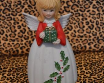 1979 Enesco Christmas Angel Bell Figurine