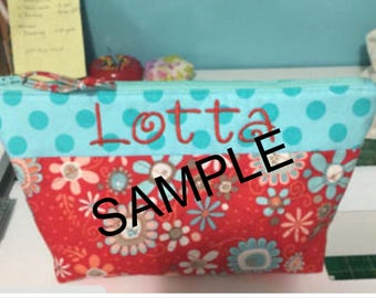 Personalized Small Zippered Bag