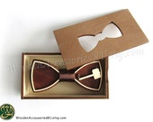 Wood bow tie Thor, wooden unisex accessory for comics fans