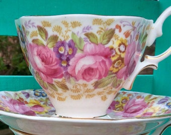 Pretty In Pink-Royal Albert Serena Teacup and Saucer