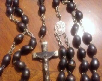 Vintage Wood Rosary Beads