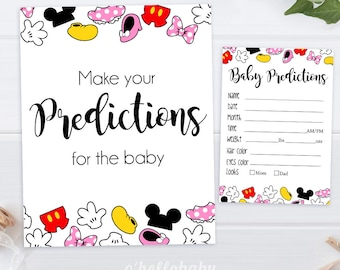 Predictions For The Baby   Disney Theme Baby Shower Games   Disney Baby  Shower   Gender