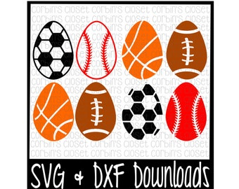 Easter Egg SVG * Football Egg * Soccer Egg * Basketball Egg * Easter SVG Cut File - SVG & dxf Files - Silhouette Cameo/Cricut