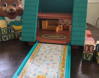 Vintage Fisher Price A Frame Playhouse 990 Seventies Collectable Fisher Price Play Family House Vintage Toys