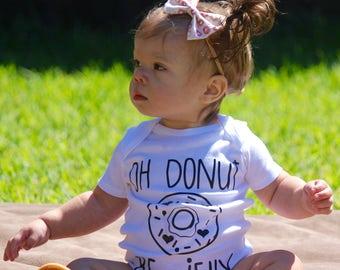Donut Onesie, Baby Girl Onesie, Funny Onesie, Newborn Onesie, Oh Donut