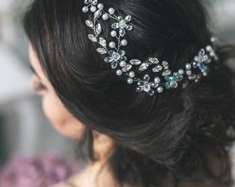 Crystal Wedding Hair Vine, Wedding Hair Accessories, Bridal Crystal Hair Vine, Bridal Crystal Hairpiece, Wedding Hairpiece
