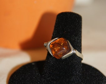Baltic Amber Ring- Size 7