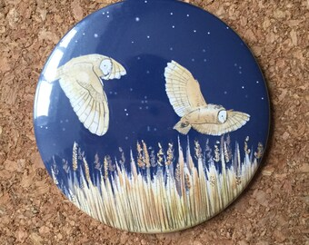 Owls Pocket Mirror