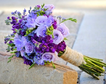 Lavender Wedding Flowers, Lavender Wedding Bouquets, Purple Wedding Flower Bouquets