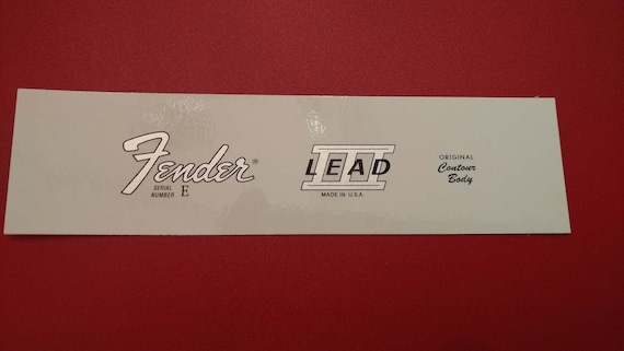 Fender Lead III Custom Waterslide Decal in Silver Metallic - Two with each order...