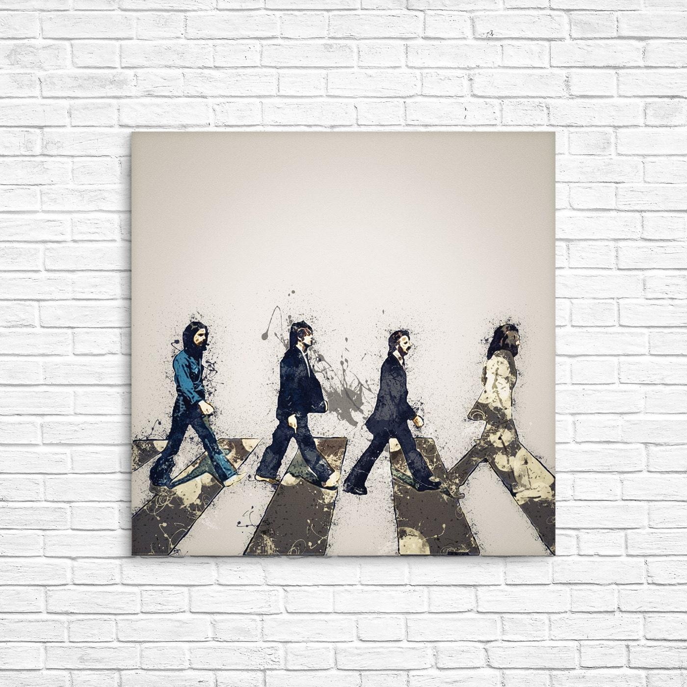 Printed Album: ABBEY ROAD Digital PRINT Beatles Printable Album Art Print