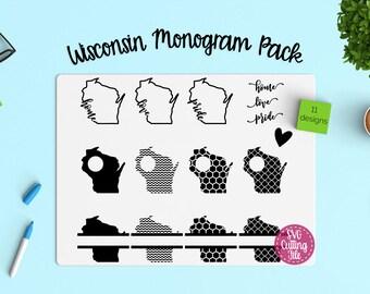 11 Wisconsin SVG - Wisconsin State SVG - Wisconsin Monogram Frames - Wisconsin Pride - Wisconsin Love