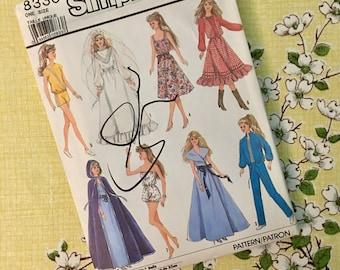 Vintage Simplicity Doll Wardrobe Pattern #8333 - Uncut