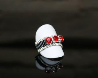 "Ring ""LIGHT SIAM & Black JET"""